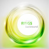 Abstract green and yellow rings