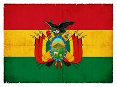 foto of bolivar  - National Flag of Bolivia created in grunge style - JPG