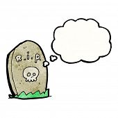 cartoon gravestone