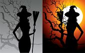 pic of halloween characters  - Vector illustration of halloween witch eps 8 - JPG