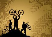 foto of dirt-bike  - Bike tour sport poster background with space - JPG