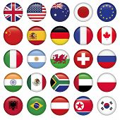 stock photo of emirates  - Set of Round Flags world top states - JPG