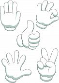 picture of animated cartoon  - Vector illustration of Hand sign cartoon isolated on white background - JPG