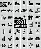 stock photo of tractor  - Agriculture icons - JPG
