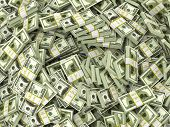 pic of money stack  - Dollars - JPG
