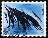 Postage Stamp France 1980 Abstract, By Hans Hartung
