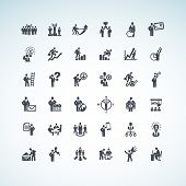 stock photo of hierarchy  - Set of business people concept vector icons - JPG