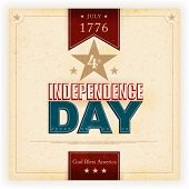 pic of blessed  - Vintage style Independence Day poster with the wording - JPG
