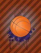 pic of stein  - illustration of basket ball with grunge steins - JPG