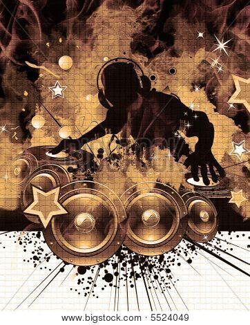 dj poster background  Burning Dj Music Background Poster ID:5524049