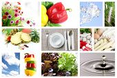 Mix The Foods And Fruit Picture For Health.