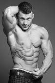 pic of jock  - The beautiful and strong muscular young guy - JPG