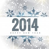 pic of new year 2014  - vector happy new year 2014 greeting design - JPG