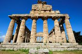 stock photo of ceres  - ancient roman temple of Ceres Paestum Italy - JPG