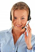 image of helpdesk  - Call center operator - JPG