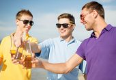 stock photo of bachelor party  - summer - JPG