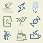 Eco web icons, money color set