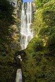 Pistyll Rhaeadr Waterfall - High Waterfall In Wales, United Kingdom