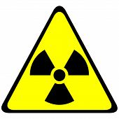 stock photo of nuke  - Radiation triangular sign  - JPG