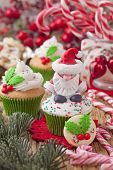 Christmas cup cakes and candy canes