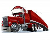 picture of weihnachten  - Cartoon Christmas truck isolated on white background - JPG