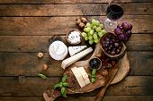 stock photo of vegetarian meal  - Cheese variety - JPG