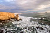 picture of ica  - Cathedral Rock Formation Peruvian Coastline Rock formations at the coast Paracas National Reserve Paracas Ica Region Peru - JPG