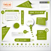 picture of line graph  - Vector Green infographic timeline elements  - JPG