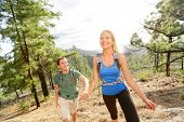 stock photo of canary  - People on hike  - JPG