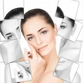 Постер, плакат: Portrait of young healthy and beautiful woman plastic surgery medicine spa cosmetics and visage