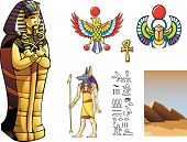 picture of cultural artifacts  - The sarcophagus on a white background - JPG