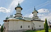 stock photo of suceava  - Slatioara Monastery in Bucovina - JPG