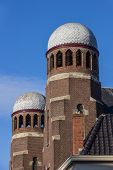 stock photo of synagogue  - Tower of the synagogue of Groningen Netherlands - JPG