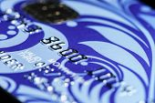 pic of plastic money  - Plastic credit card macro view money and finance - JPG