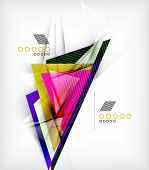 Abstract company logo collection - large set of business corporate logotypes poster