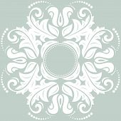 foto of frilly  - Floral vector oriental pattern with damask - JPG