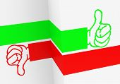 foto of dislike  - 3d generated picture of a like or dislike concept - JPG