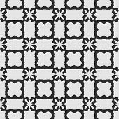 picture of lace-curtain  - White lace curtain abstract seamless pattern on a black background - JPG