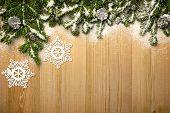 image of weihnachten  - Christmas background with fresh fir - JPG