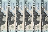 picture of twenty dollars  - Twenty US Dollar Banknotes in a row - JPG