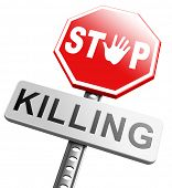 stock photo of ban  - stop killing no guns ban weapons end the war and violence - JPG