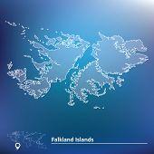 picture of falklands  - Map of Falkland Islands  - JPG