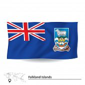foto of falklands  - Flag of Falkland Islands  - JPG