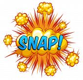 image of slang  - Word snap with yellow explosion clouds - JPG