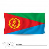 stock photo of eritrea  - Flag of Eritrea  - JPG