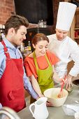 picture of cook eating  - cooking class - JPG