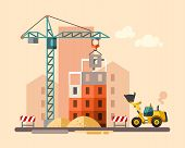 stock photo of building exterior  - Construction site - JPG