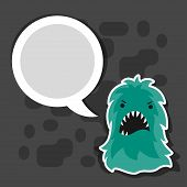 image of microbes  - Background with little angry virus - JPG