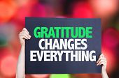 image of humility  - Gratitude Changes Everything card with bokeh background - JPG