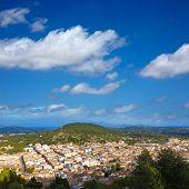 image of calvary  - Majorca Pollenca Pollensa aerial view from Calvari in Mallorca balearic island Spain - JPG